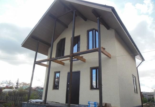 Дачный Дом из Арболита 6х6