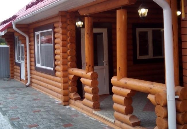 Отделка бревенчатого дома пос.Теплый стан.